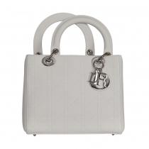 Dior Bolso Lady Dior Cannage Blanco