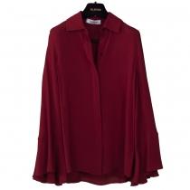 Valentino Blusa Capa Seda Roja T 38