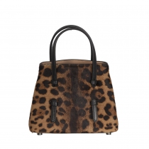 Alaïa Mini Bolso Mina 16 Piel Leopardo