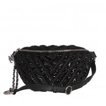 Chanel Bolso Cinturón Charol Negro