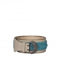 Etro Cinturón Perlas Azules T 80
