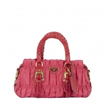 Prada Bolso Mini Gaufre Rosa