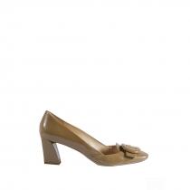 Prada Zapatos Charol Beige 38.5