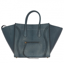 Celine Phantom Luggage Pitón Azul