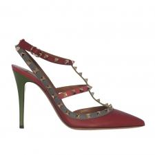 Valentino Zapatos Rockstud Tricolor