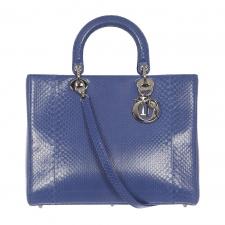Dior Bolso Lady Pitón Azul