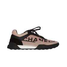 Chanel Sneakers Trainer Rosa y Negro 39
